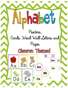 Chevron Alphabet Posters, Cards, and Word Wall Letters and Pages