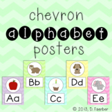 Chevron Alphabet Posters (Full-Page and Half-Page)