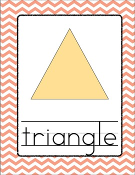 Chevron Shape Posters - Peach