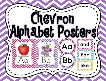 Chevron Alphabet Posters Set