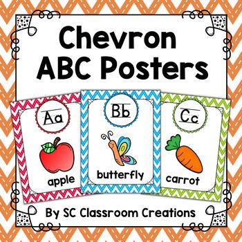 Chevron Alphabet Posters (Stitched Chevron)