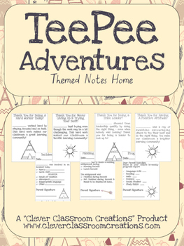 Tee Pee Adventures Communication Notes