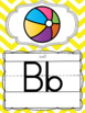 Alphabet Posters and Bunting in a Chevron Classroom Decor Theme