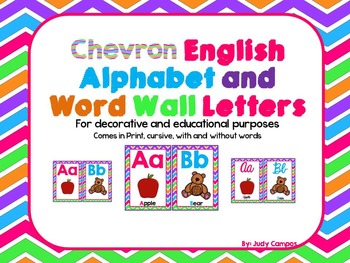 Chevron Alphabet Posters in English