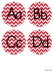 Chevron Alphabet Posters {in Red}