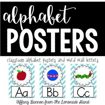 Chevron Alphabet Posters {in Turquoise}