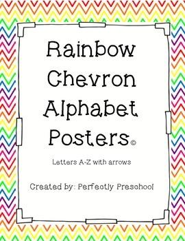 Chevron Alphabet Posters with Arrows