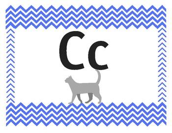 Chevron Alphabet Primary Blue