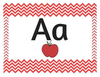Chevron Alphabet Primary Red