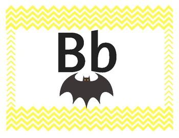 Chevron Alphabet Primary Yellow