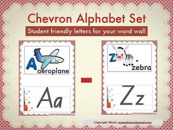 Chevron Alphabet Set