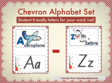 Chevron Alphabet Set