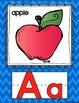 Chevron Alphabet Set (Regular-size) with Word Wall Cards