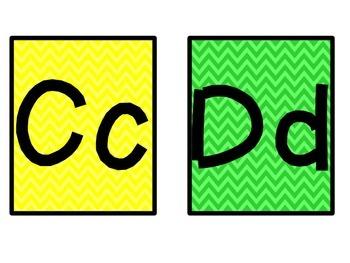Chevron Alphabet & Star Word Wall Cards