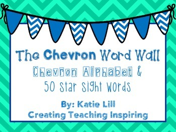 Chevron Alphabet & Star Word Wall Cards