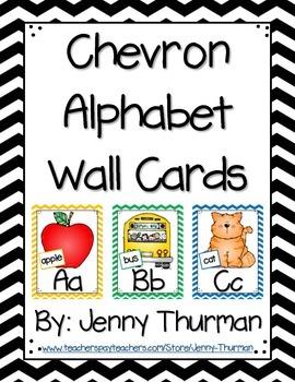 Chevron Alphabet Wall Cards