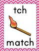 Chevron Alphabet Wall Cards ~ A-Z, digraphs, trigraphs, r-controlled vowels
