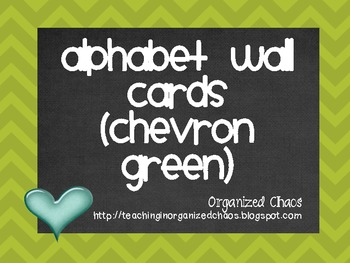 Chevron Alphabet Wall Cards (Green)