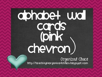 Chevron Alphabet Wall Cards (Pink)