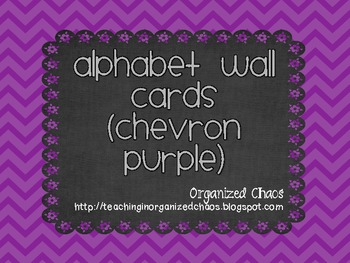 Chevron Alphabet Wall Cards (Purple)