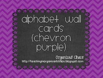 Chevron Alphabet Wall Cards (Purple)