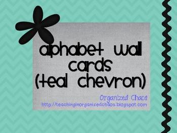 Chevron Alphabet Wall Cards (Teal)