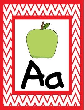 {Chevron} Alphabet Wall Decor