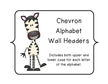 Chevron Alphabet Wall Headers (Special Order)