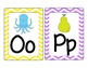 Chevron Alphabet Word Wall Cards with Images