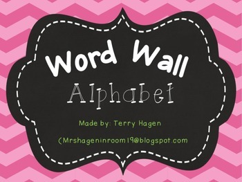 Chevron Alphabet Word Wall Headers