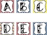 Chevron Alphabet Word Wall -Superman