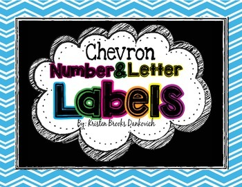 Chevron Alphabet and Number Labels