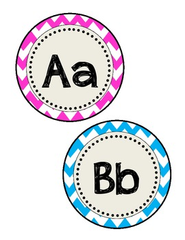 Chevron Alphabet/Word Wall Letter