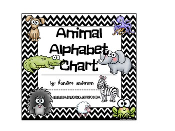 Chevron Animal Alphabet