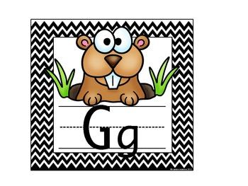 Chevron Animal Alphabet