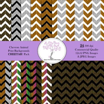 Chevron Animal Print Backgrounds CHEETAH Pack