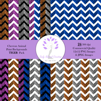 Chevron Animal Print Backgrounds TIGER Pack