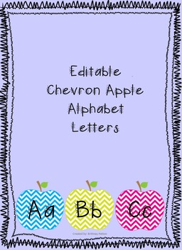 Chevron Apple Alphabet Letters