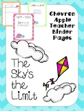 Chevron Apple Binder Pages