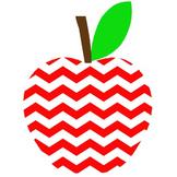 Chevron Apple Clipart - PNG file