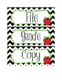 Chevron Apple Drawer Labels