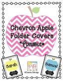Chevron Apple Folder Covers- Editable!