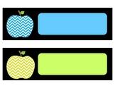 Chevron Apple Multicolored Name Plates