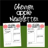 Chevron Apple Newsletter {EDITABLE}