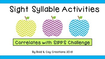 Chevron Apple Sight Syllables (used with SIPPS Challenge)