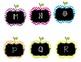 Chevron Apple Theme Alphabet for Word Wall