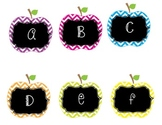 Chevron Apple Theme Alphabet for Word Wall
