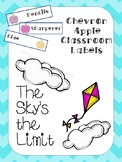 Chevron Apples Classroom Labels