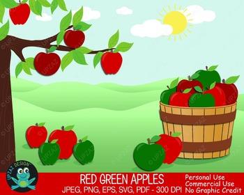 Apple Barrel {Upzaz Digital Clipart}