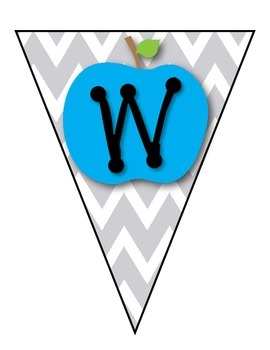 Welcome Banner {Chevron & Apples Theme} * Back to School * 1st - 5th Grade *